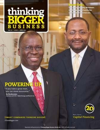 Ike Nwabuonwu and Gabriel Okafor of Alpha Energy and Electric Inc - Click HERE to Download Full Story