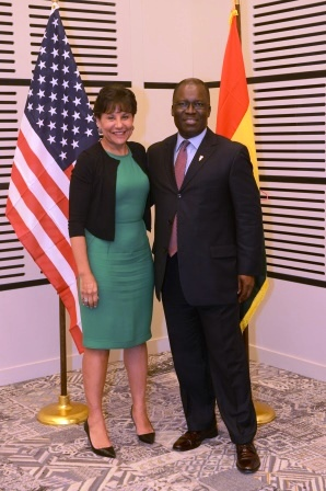 Ike Nwabuonwu with Secretary Pritzker