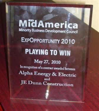 Alpha Energy and Electric Inc. receives MAMBDC the 2010 Award