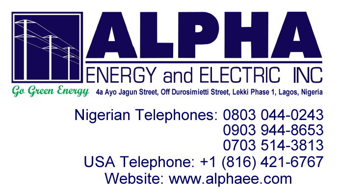 Alpha Energy and Electric, Inc., Reaching Out to Africa!