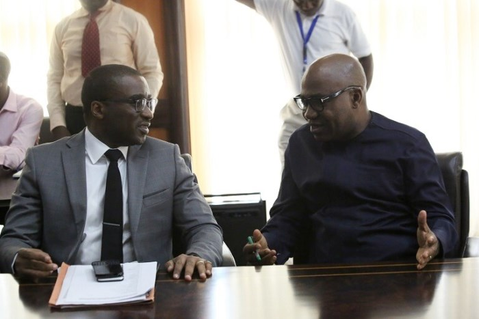 Gov. Ifeanyi Okowa (left) and Chairman, Alpha Energy and Electric Company, Ike Nwabuonwu