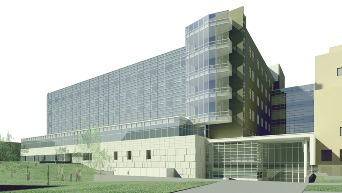 University Of Missouri Patient Care Tower in Columbia, Missouri, USA